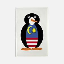 Penguin Flag Malaysia Rectangle Magnet