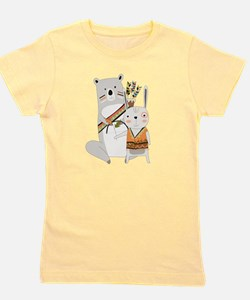 Tribal Bear and Bunny Girl's Tee