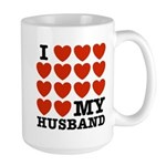 I Love My Husband Large Mug