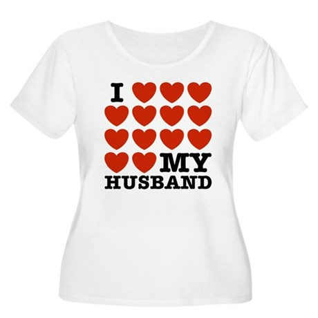 I Love My Husband Women's Plus Size Scoop Neck T-S