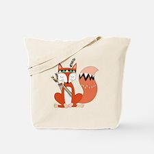 Tribal Red Fox Tote Bag