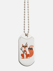 Tribal Red Fox Dog Tags