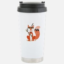 Tribal Red Fox Stainless Steel Travel Mug