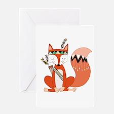 Tribal Red Fox Greeting Card