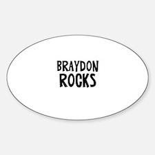 Braydon Rocks Oval Decal