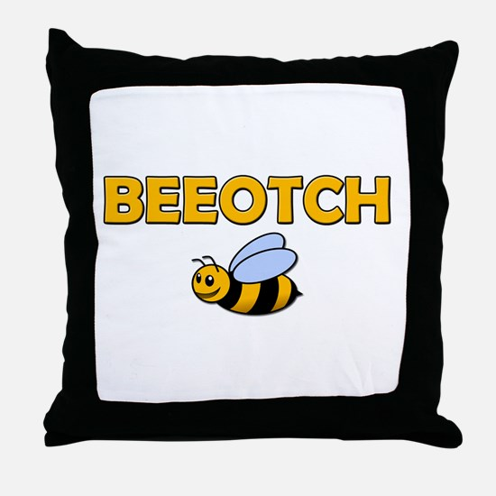 Beeotch Throw Pillow