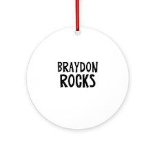 Braydon Rocks Ornament (Round)