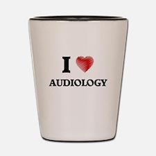 I Love Audiology Shot Glass