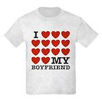 I Love My Boyfriend Kids Light T-Shirt
