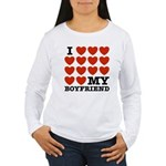 I Love My Boyfriend Women's Long Sleeve T-Shirt