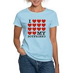 I Love My Boyfriend Women's Light T-Shirt