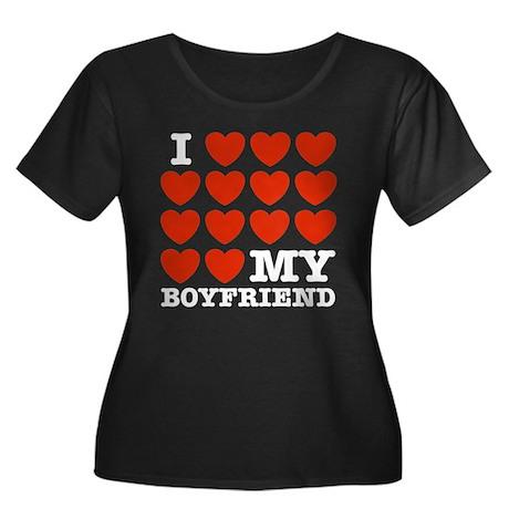 I Love My Boyfriend Women's Plus Size Scoop Neck D