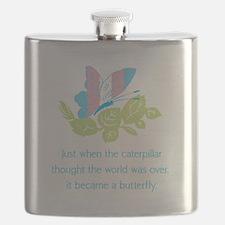 Transgender Butterfly Flask