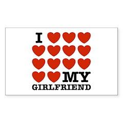 I Love My Girlfriend Rectangle Decal