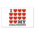 I Love My Girlfriend Rectangle Sticker