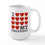 I Love My Girlfriend Large Mug