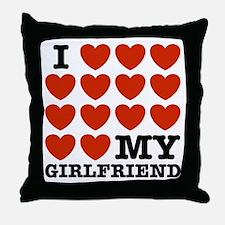I Love My Girlfriend Throw Pillow