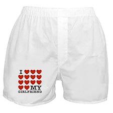 I Love My Girlfriend Boxer Shorts