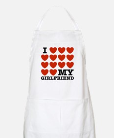 I Love My Girlfriend BBQ Apron