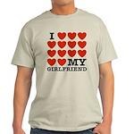 I Love My Girlfriend Light T-Shirt