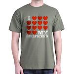 I Love My Girlfriend Dark T-Shirt