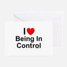 Being In Control Greeting Card