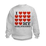 I Love My Girlfriend Kids Sweatshirt