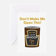 Can of Whoop Ass! Greeting Cards