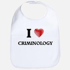 I Love Criminology Bib