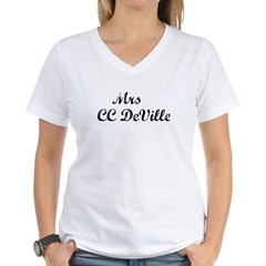 Mrs CC DeVille Women's V-Neck T-Shirt