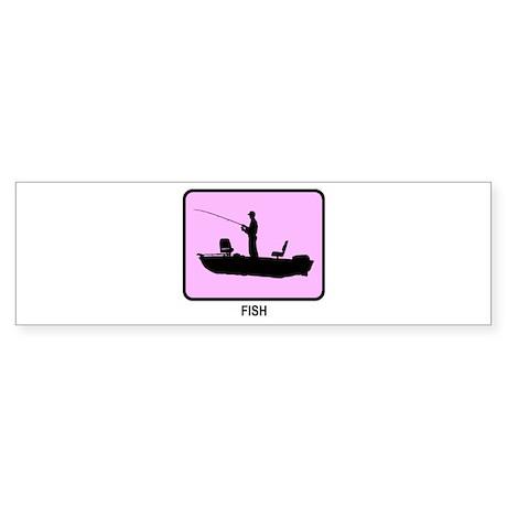 Fish (pink) Bumper Sticker