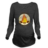 Camping Dark Long Sleeve Maternity T-Shirt