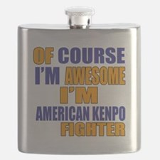 I Am Awesome American Kenpo Martial Arts Fig Flask