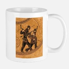 Ancient Greek Pottery painting gangsters Mugs