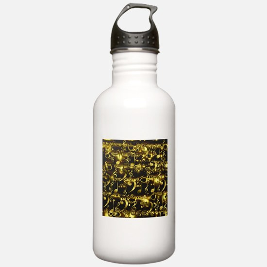 golden notes Water Bottle
