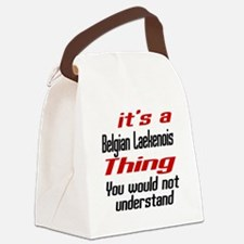 Belgian Laekenois Thing Dog Desig Canvas Lunch Bag