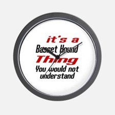 Basset Hound Thing Dog Designs Wall Clock