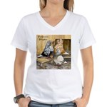 Domestic Flights Three Women's V-Neck T-Shirt