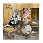 Domestic Flights Three Tile Coaster