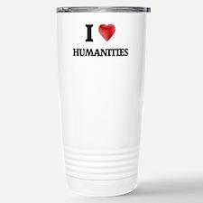 I Love Humanities Stainless Steel Travel Mug