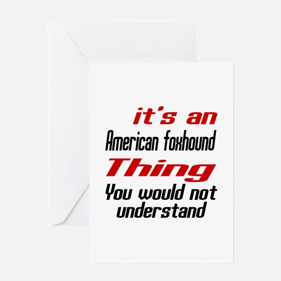 American Foxhound Thing Dog Designs Greeting Card