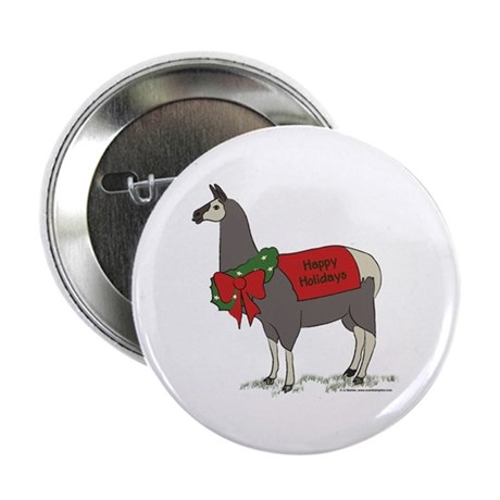 "Holiday Llama 2.25"" Button (100 pack)"