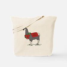 Holiday Llama Tote Bag
