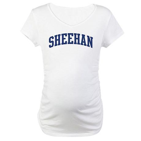 SHEEHAN design (blue) Maternity T-Shirt