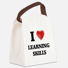 I Love Learning Skills Canvas Lunch Bag