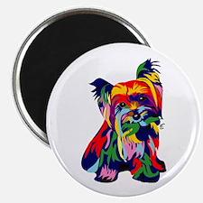 Bright Rainbow Yorkie Magnets