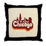 Retro Chicago Throw Pillow