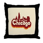 Retro Chicago Throw Pillow