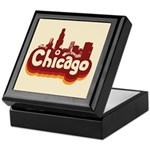 Retro Chicago Keepsake Box