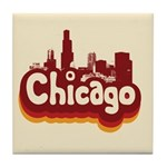 Retro Chicago Tile Coaster